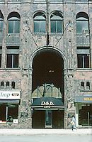 Detroit:  David Stott Building 1929--entrance.  Donaldson & Meier.  Art Deco.  Photo '97.