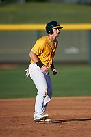 AZL Athletics Gold Sean Murphy (52) leads off second base during a rehab assignment in an Arizona League game against the AZL Rangers on July 15, 2019 at Hohokam Stadium in Mesa, Arizona. The AZL Athletics Gold defeated the AZL Athletics Gold 9-8 in 11 innings. (Zachary Lucy/Four Seam Images)
