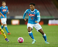 during the  italian serie a soccer match,between SSC Napoli and Chievo Verona      at  the San  Paolo   stadium in Naples  Italy , March 06, 2016<br /> Napoli won  3 - 1