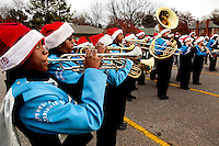 The Hopewell High School Band entertained spectators and other participants in the Annual North Mecklenburg Christmas Parade held in the town of Davidson, NC. The annual parade includes marching bands, floats, tractors, fire trucks, Scouts, antique cars, clowns, pets and, of course, Santa Claus.