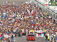 A crowded grid before the Rolex 24 at Daytona , Daytona International Speedway, Daytona Beach, FL, January 2009.  )Photo by Brian Cleary)