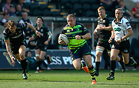 Leinster's Sean Cronin scores his sides first try<br /> <br /> Photographer Simon King/CameraSport<br /> <br /> Guinness PRO12 Round 19 - Ospreys v Leinster Rugby - Saturday 8th April 2017 - Liberty Stadium - Swansea<br /> <br /> World Copyright &copy; 2017 CameraSport. All rights reserved. 43 Linden Ave. Countesthorpe. Leicester. England. LE8 5PG - Tel: +44 (0) 116 277 4147 - admin@camerasport.com - www.camerasport.com