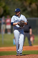 Butler Bulldogs starting pitcher Nick Morton (29) gets ready to deliver a pitch during a game against the Indiana Hoosiers on March 6, 2016 at North Charlotte Regional Park in Port Charlotte, Florida.  Indiana defeated Butler 2-1.  (Mike Janes/Four Seam Images)