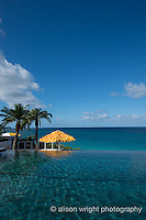 The Caribbean, Anguilla. The Malliouhana Hotel & Spa, pool.