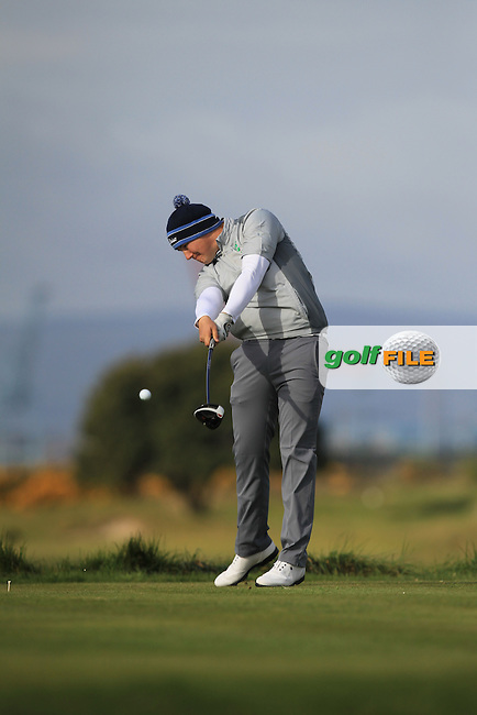 Colm Campbell Jnr. (Warrenpoint) on the 3rd tee during Round 1 of the Flogas Irish Amateur Open Championship at Royal Dublin on Thursday 5th May 2016.<br /> Picture:  Thos Caffrey / www.golffile.ie
