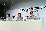 (L to R) <br /> Christel Takigawa, <br />  Naoki Inose, <br /> Yuki Ota, <br /> SEPTEMBER 6, 2013 : <br /> Tokyo 2020 Bib Comittee press conference <br /> at the Sheraton hotel in Buenos Aires Argentina, <br /> (Photo by YUTAKA/AFLO SPORT) [1040]