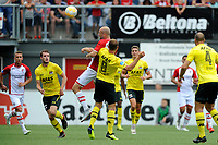 EMMEN - Voetbal, FC Emmen - AZ, De  Oude Meerdijk, Eredivisie, seizoen 2018-2019, 19-08-2018,  FC Emmen speler Nicklas Pedersen kopt