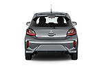 Straight rear view of 2020 Mitsubishi Space-Star Red-Line-Edition 5 Door Hatchback Rear View  stock images