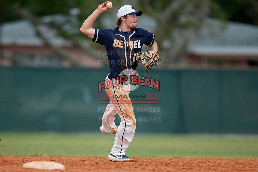 Bethel Wildcats shortstop Marcus Krupke (14) during the second game of a double header against the Edgewood Eagles on March 15, 2019 at Terry Park in Fort Myers, Florida.  Bethel defeated Edgewood 3-2.  (Mike Janes/Four Seam Images)