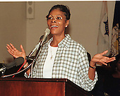 """Dionne Warwick appears at a press confrence about the """"Symphony with the Divas"""" gala concert on Capitol Hill in Washington, D.C. on September 8, 1997..Credit: Ron Sachs / CNP"""