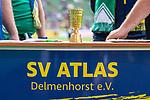 10.08.2019, wohninvest WESERSTADION, Bremen, GER, DFB-Pokal, 1. Runde, SV Atlas Delmenhorst vs SV Werder Bremen<br /> <br /> im Bild<br /> Mini-Pokal / Trophäe<br /> <br /> vor DFB-Pokal Spiel zwischen SV Atlas Delmenhorst und SV Werder Bremen im wohninvest WESERSTADION, <br /> <br /> Foto © nordphoto / Ewert
