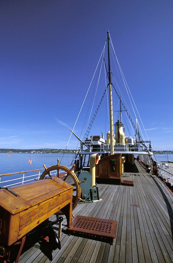 Deck of the CSS Acadia, Halifax, Nova Scotia, Canada