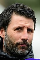 Lincoln City manager Danny Cowley during the pre-match warm-up<br /> <br /> Photographer Chris Vaughan/CameraSport<br /> <br /> Emirates FA Cup First Round - Lincoln City v Northampton Town - Saturday 10th November 2018 - Sincil Bank - Lincoln<br />  <br /> World Copyright © 2018 CameraSport. All rights reserved. 43 Linden Ave. Countesthorpe. Leicester. England. LE8 5PG - Tel: +44 (0) 116 277 4147 - admin@camerasport.com - www.camerasport.com