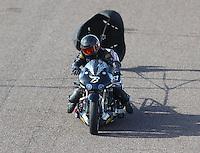 Feb 25, 2017; Chandler, AZ, USA; NHRA top fuel nitro Harley Davidson rider Bob Malloy during qualifying for the Arizona Nationals at Wild Horse Pass Motorsports Park. Mandatory Credit: Mark J. Rebilas-USA TODAY Sports