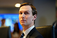 Senior Advisor Jared Kushner listens during a teleconference with governors at the Federal Emergency Management Agency headquarters, Thursday, March 19, 2020, in Washington, DC.<br /> Credit: Evan Vucci / Pool via CNP/AdMedia