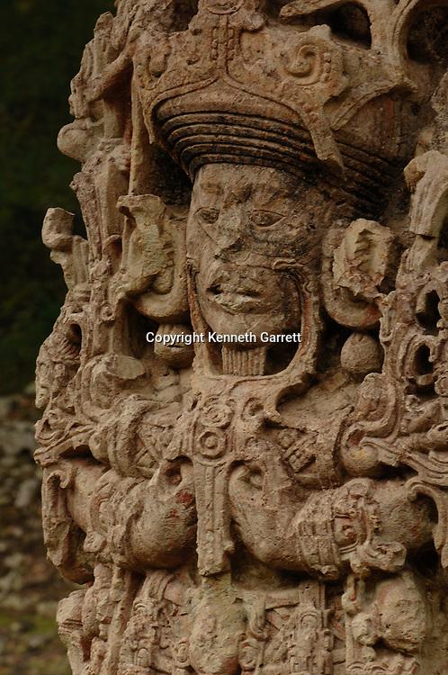 Maya rise and Fall; Copan; Honduras; Stela, Stela B, 18 Rabbit,  Mayan; Maya; Ancient Cultures