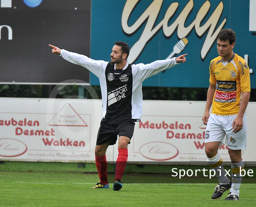 SC Wielsbeke - Club Roeselare : Ismael Sabaouni viert de 1-1 gelijkmaker<br /> foto VDB / Bart Vandenbroucke