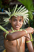 Boy in Traditional Dance, Yap Micronesia (Photo by Matt Considine - Images of Asia Collection)