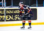 Stockholm 2013-12-28 Ishockey Hockeyallsvenskan Djurg&aring;rdens IF - Almtuna IS :  <br /> Djurg&aring;rden Sam Lofqvist reagerar<br /> (Foto: Kenta J&ouml;nsson) Nyckelord:  portr&auml;tt portrait arg f&ouml;rbannad ilsk ilsken sur tjurig angry