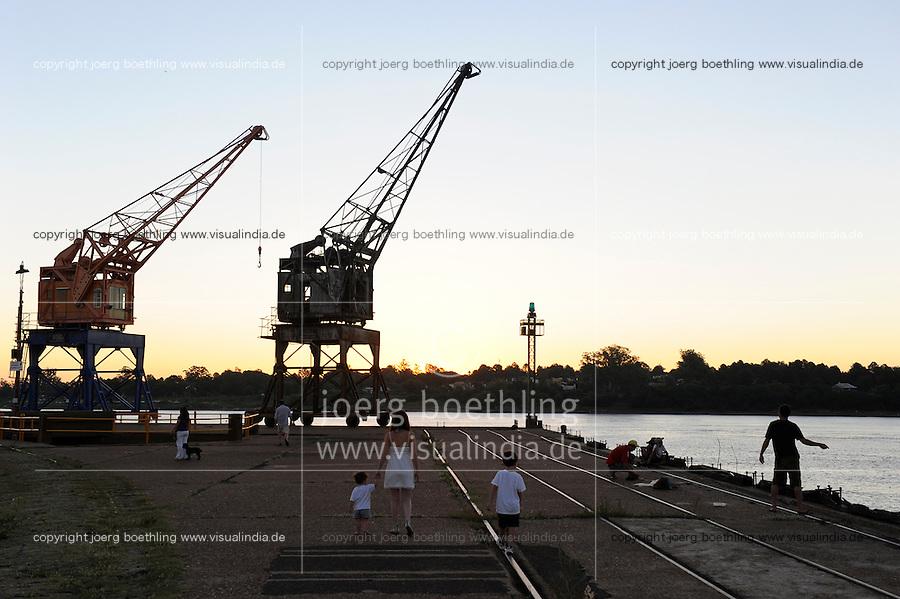 URUGUAY Salto, evening at river Rio Uruguay