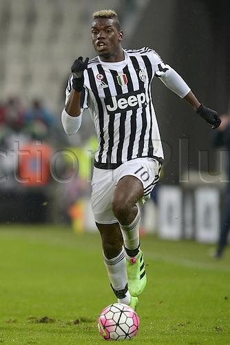28.02.2016. Juventus Stadium, Turin, Italy. Serie A Football. Juventus versus Inter Milan.  Paul Pogba Juventus