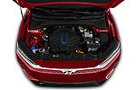 Car stock 2019 Hyundai Kona EV Sky 5 Door SUV engine high angle detail view