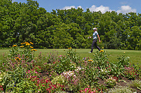 Brooke M. Henderson (CAN) makes her way to the tee on 11 during round 1 of the 2018 KPMG Women's PGA Championship, Kemper Lakes Golf Club, at Kildeer, Illinois, USA. 6/28/2018.<br /> Picture: Golffile | Ken Murray<br /> <br /> All photo usage must carry mandatory copyright credit (&copy; Golffile | Ken Murray)