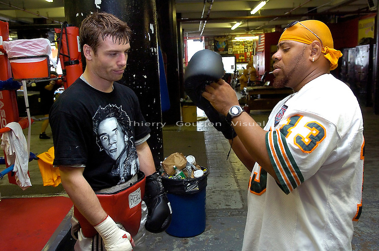 John Duddy  training  at Gleason's Gym in Brooklyn, NY on 05.31.06. Duddy is preparing for his upcoming WBC Continental Americas Middleweight Championship fight against Freddy Cuevas at MSG on June 10th, 2006.