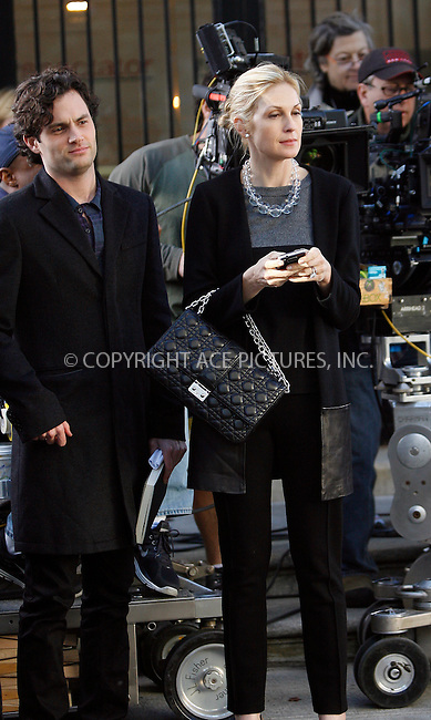 WWW.ACEPIXS.COM . . . . .  ....October 25 2011, New York City....Actors Penn Badgley and Kelly Rutherford on the set of the TV series 'Gossip Girl' on the Upper East side on October 25 2011 in New York City....Please byline: CURTIS MEANS - ACE PICTURES.... *** ***..Ace Pictures, Inc:  ..Philip Vaughan (212) 243-8787 or (646) 679 0430..e-mail: info@acepixs.com..web: http://www.acepixs.com