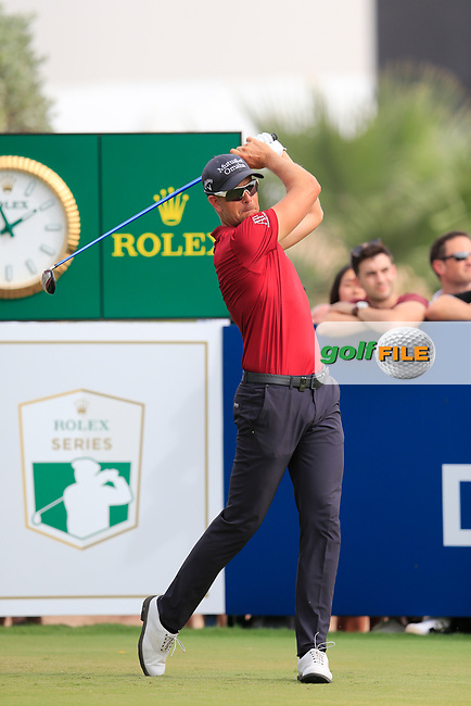 Henrik Stenson (SWE) on the 10th fairway during the 3rd round of the DP World Tour Championship, Jumeirah Golf Estates, Dubai, United Arab Emirates. 17/11/2018<br /> Picture: Golffile | Fran Caffrey<br /> <br /> <br /> All photo usage must carry mandatory copyright credit (&copy; Golffile | Fran Caffrey)