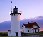 Cape Cod National Seashore, MA <br /> Evening light on Race Point lighthouse (1876) at Race Point