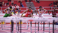 NWA Democrat-Gazette/BEN GOFF @NWABENGOFF<br /> Runners compete in the 60 meter hurdles prelims Friday, Feb. 10, 2017 during the Tyson Invitational at the Randal Tyson Track Complex in Fayetteville.