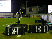 9th February 2018, Galway Sportsground, Galway, Ireland; Guinness Pro14 rugby, Connacht versus Ospreys; View of the Ospreys training pads ahead of the match against Connacht