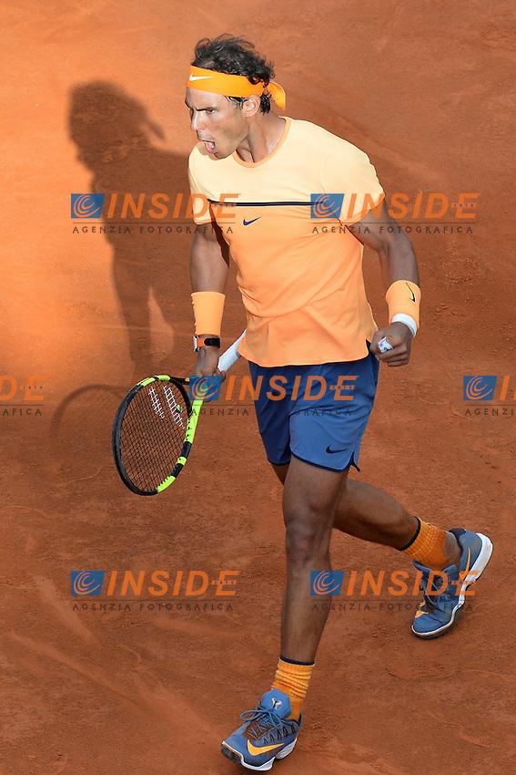 Rafael Nadal (ESP)<br /> Roma 12-05-2016  Foro Italico<br /> Internazionali BNL d'Italia, <br /> Tennis ATP<br /> Foto Antonietta Baldassarre / Insidefoto