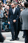 Leonardo DiCaprio arrive for the Giorgio Armani 40th Anniversary fashion show and Silos Opening one day before Expo 2015, in Milan on April 30, 2015.