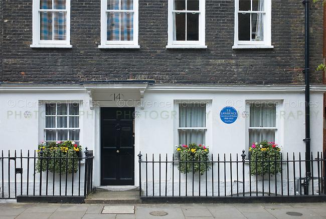 Former home of T.E. Lawrence on Barton Street, London, England
