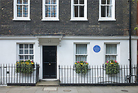 Former home of T.E. Lawrence on Barton Street, London, England