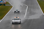 Safety Car leads the field into turn one followed by the MercedesGP drivers Rosberg and Hamilton out of pit lane <br /> SUZUKA, JAPAN, 05.10.2014, Formula One F1 race, JAPAN Grand Prix, Grosser Preis, GP du Japon, Motorsport, Photo by: Sho TAMURA/AFLO SPORT  GERMANY OUT