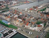 Juni 1998. Willemdok en Kattendijkdok in Antwerpen.