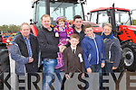 Enjoying the farm machinery display in Hoare's Machinery Killorglin on Saturday were l-r: Maurice Lawlor Abbeydourney, Billy and Katie Joyce Ballybunion, Padraig Dennehy, Martin Murphy, Jonathan Dennehy and Claire Hoare Killorglin