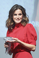 "19-12-2018 Madrid Queen Letizia during the 5th edition of the national fashion industry prizes, "" Nacionales de la Industria de la Moda "" at the costume museum in Madrid.<br /> <br /> .<br /> <br /> ."