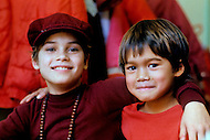 Wasco, Oregon, January 1984: Kids at Rajneeshpuram. Rajneeshpuram, was an intentional community in Wasco County, Oregon, briefly incorporated as a city in the 1980s, which was populated with followers of the spiritual teacher Osho, then known as Bhagwan Shree Rajneesh. The community was developed by turning a ranch from an empty rural property into a city complete with typical urban infrastructure, with population of about 7000 followers.
