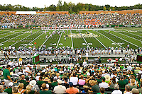 Charlotte 49ers Inaugural NCAA college football game between the University of North Carolina at Charlotte and Campbell in Charlotte, N.C., Saturday, Aug. 31, 2013.  Charlotte went on to beat Campbell 52-7 at Jerry Richardson Stadium in front 15,000 fans.<br />
