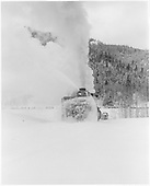 C&amp;TS rotary snowplow #OM clearing the track east of Chama.<br /> C&amp;TS  e. of Chama, NM