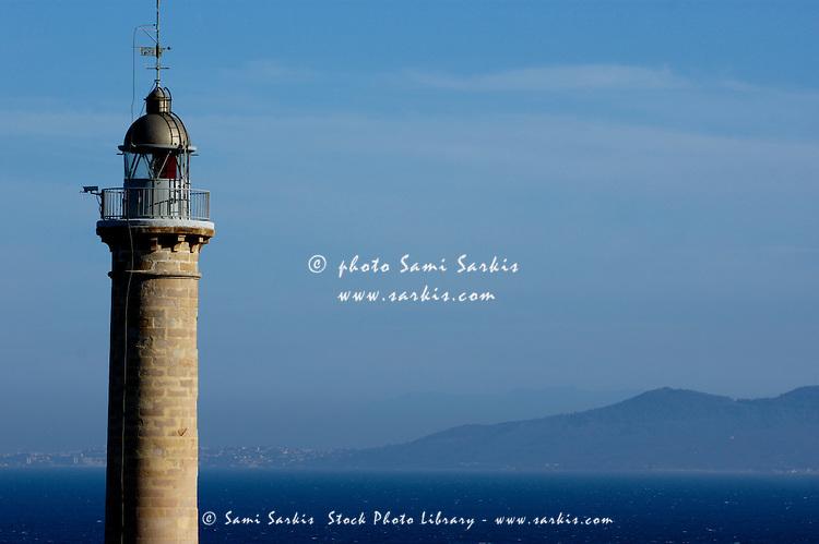 Lighthouse at Punta Carnero, a headland near Algeciras, Andalusia, Spain.