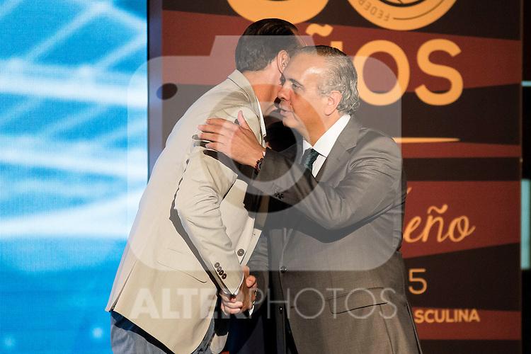 San Epifanio during the 80th Aniversary of the National Basketball Team at Melia Castilla Hotel, Spain, September 01, 2015. <br /> (ALTERPHOTOS/BorjaB.Hojas)