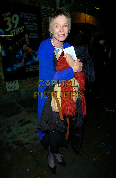 """SUSANAH YORK.""""The History Boys"""" press night, Wyndham's Theatre, London, UK..January 3rd, 2007.Susannah full length blue coat.CAP/CAN.©Can Nguyen/Capital Pictures"""