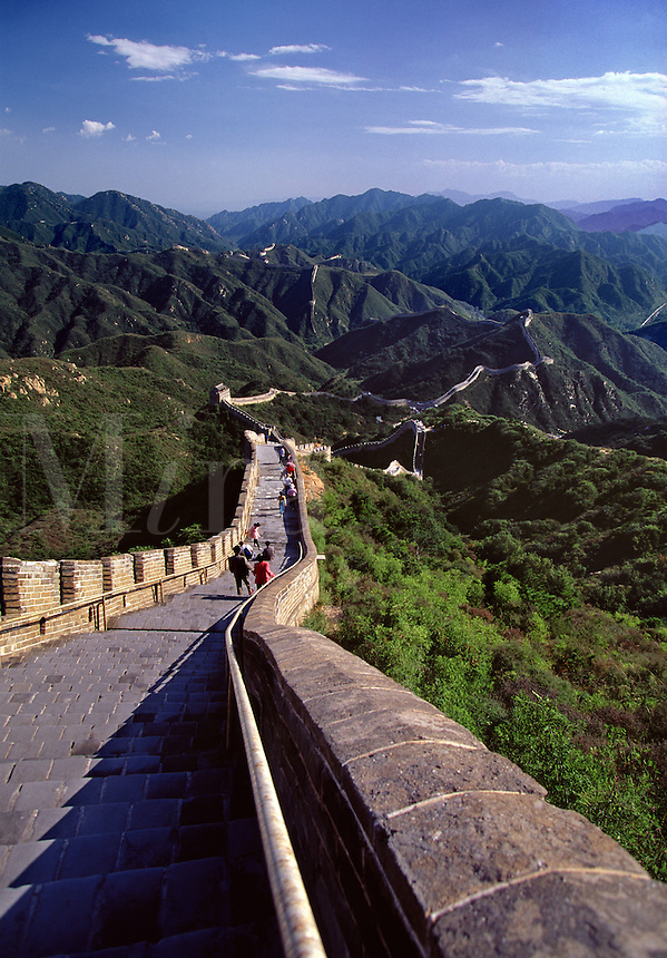 The Great Wall at Badaling near Beijing China.