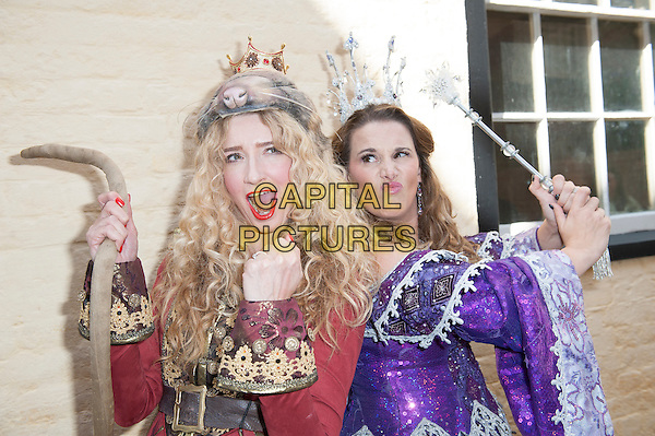 AYLESBURY, ENGLAND - Melanie Masson and Sam Bailey at the Dick Whittington Panto launch at the Waterside Theatre on September 21st 2015 in Aylesbury, England<br /> CAP/PP/GM<br /> &copy;Gary Mitchell/PP/Capital Pictures
