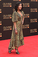 Angelica Bell<br /> arriving for the Olivier Awards 2019 at the Royal Albert Hall, London<br /> <br /> ©Ash Knotek  D3492  07/04/2019